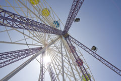 Ferris wheel gondolas. At fun fair stock photos