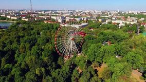 Gorky Park, Minsk, Belarus - Postsoviet Country stock video