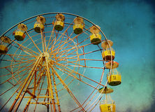 Ferris wheel with grunge effect royalty free stock photo