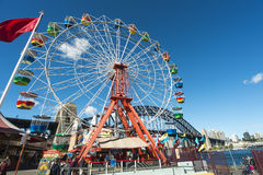 Ferris Wheel and harbour bridge Royalty Free Stock Image