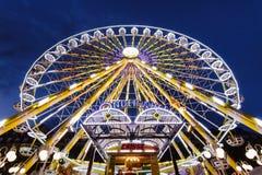 Ferris Wheel in het Pretpark van Parijs royalty-vrije stock foto