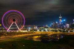 Hong Kong, China - Apr 20, 2019: Ferris wheel royalty free stock photos