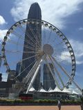 Ferris Wheel, Hong Kong Fotografia Stock