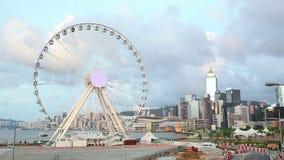 Ferris wheel in Hong Kong stock video