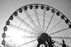 Ferris wheel. A huge ferris wheel with views of the city Stock Photos
