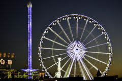 Ferris Wheel in Hyde Park Royalty-vrije Stock Afbeeldingen