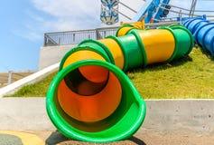 Ferris Wheel i Santorinien parkerar, nyaste Thailand en munterhet Arkivfoto