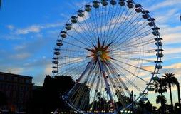 Ferris Wheel i staden av Nice, Frankrike royaltyfria bilder