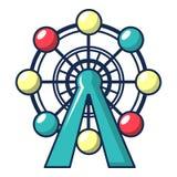 Ferris wheel icon, cartoon style. Ferris wheel icon. Cartoon illustration of ferris wheel vector icon for web design Stock Photography