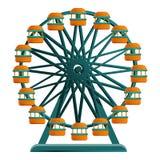 Ferris wheel icon, cartoon style royalty free illustration