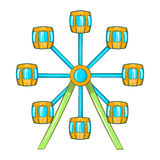 Ferris wheel icon, cartoon style. Ferris wheel icon in cartoon style on a white background Stock Images
