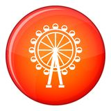 Ferris wheel icon, flat style Stock Photography
