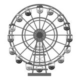 Ferris wheel icon, gray monochrome style. Ferris wheel icon. Gray monochrome illustration of ferris wheel vector icon for web Royalty Free Stock Photography