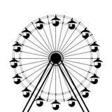 Ferris wheel icon. Over white background Stock Image