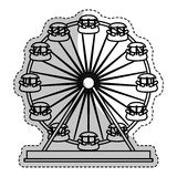 Ferris wheel icon. Over whtie background.  illustration Royalty Free Stock Photo