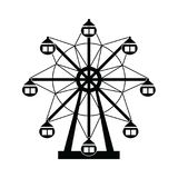 Ferris wheel icon set. The ferris wheel icon set Royalty Free Stock Images