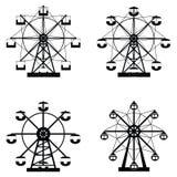 Ferris wheel icon set. The ferris wheel icon set Stock Photography