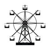 Ferris wheel icon set. The ferris wheel icon set Stock Photo