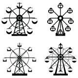 Ferris wheel icon set. The ferris wheel icon set Stock Images