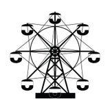Ferris wheel icon set. The ferris wheel icon set Royalty Free Stock Photo