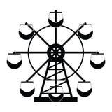 Ferris wheel icon set. The ferris wheel icon set Royalty Free Stock Image