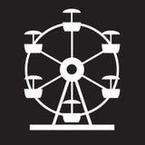 Ferris Wheel Icon Silhouette Attrazione rotonda di spettacolo Fotografia Stock Libera da Diritti