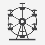 Ferris Wheel Icon Silhouette Attrazione rotonda di spettacolo Fotografie Stock