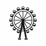 Ferris wheel icon, simple style. Ferris wheel icon in simple style isolated on white background. Entertainment symbol Royalty Free Stock Image