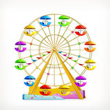 Ferris wheel icon. Ferris wheel, vector illustration icon Stock Photography