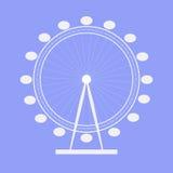 Ferris Wheel icona Simbolo Priorità bassa per una scheda dell'invito o una congratulazione Fotografia Stock Libera da Diritti