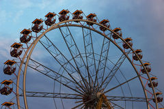 Ferris wheel illuminated at night Stock Photo