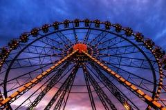 Ferris wheel illuminated Stock Image