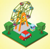 Ferris wheel. Illustration of a Ferris wheel Royalty Free Stock Photo