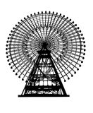 Ferris wheel. Illustration of a ferris wheel isolated Royalty Free Stock Image