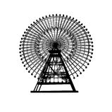 Ferris wheel. Illustration of a Ferris wheel isolated on white Royalty Free Stock Images
