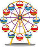 A ferris wheel. Illustration of a ferris wheel on a white background Stock Photography