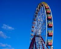 Ferris Wheel im Licht der untergehenden Sonne stockfotos