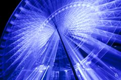 Free Ferris Wheel In Motion Glowing At Night Stock Images - 13402784