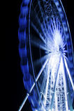 Ferris Wheel In Motion In A Night Time Royalty Free Stock Photography