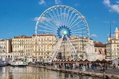 Free Ferris Wheel In Old Port Of Marseille, France Stock Photography - 109724712
