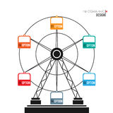 Ferris Wheel infographic elements. Modern vector abstract Ferris Wheel infographic elements and marketing icons can be used for workflow layout, diagram, annual Stock Photography