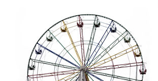 Ferris wheel isolated Royalty Free Stock Photo