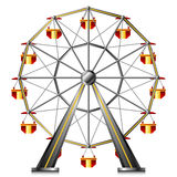 Ferris wheel. Isolated on white Royalty Free Stock Photos