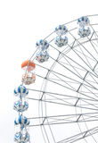 Ferris wheel isolated on white background Royalty Free Stock Image