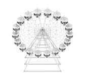 Ferris wheel isolated on white background. 3d rendering.  Royalty Free Stock Photo