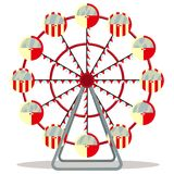 Ferris wheel isolated on white background. Vector illustration Royalty Free Stock Photo