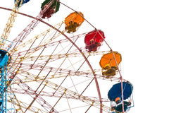 Ferris wheel isolated on white Royalty Free Stock Photography