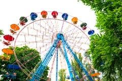 Ferris wheel isolated on white Royalty Free Stock Photo