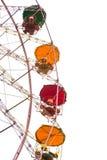 Ferris wheel isolated on white Royalty Free Stock Image