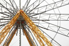 Ferris wheel joy amusement Park. Engineering structure Stock Photography